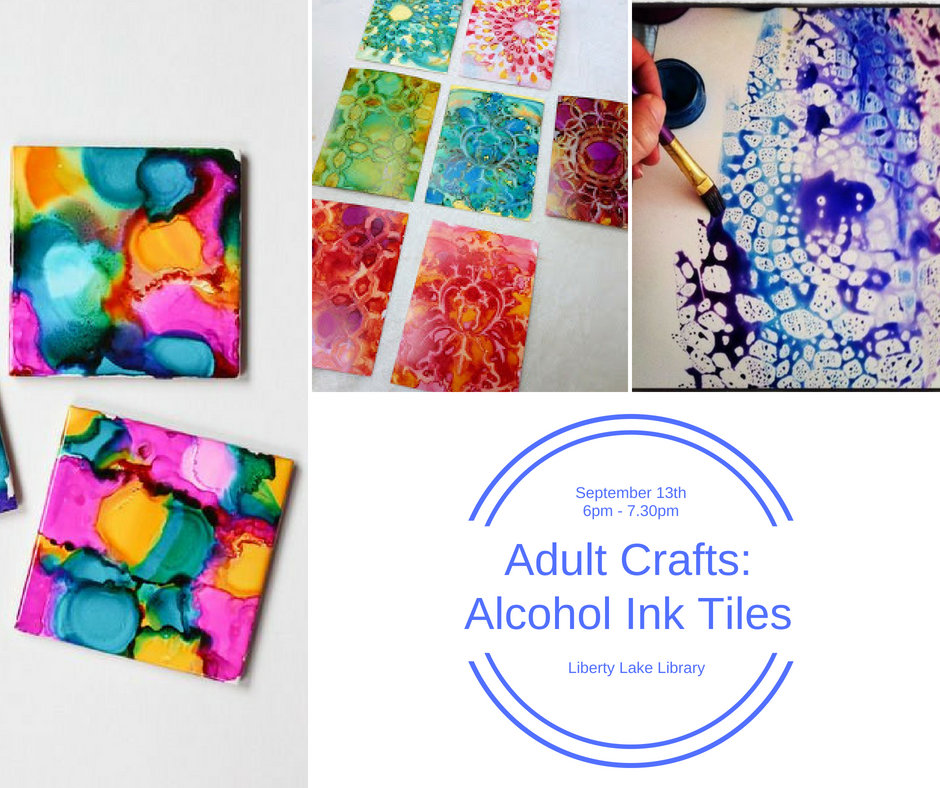 Alcohol Ink Tiles Sept 13th